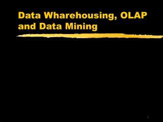 Data Wharehousing, OLAP and Data Mining