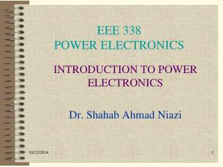 EEE 338 POWER ELECTRONICS
