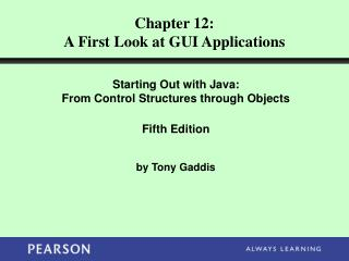 Chapter 12: A First Look at GUI Applications