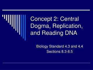 Concept 2: Central Dogma, Replication, and Reading DNA