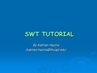 SWT TUTORIAL