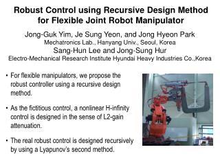 Robust Control using Recursive Design Method for Flexible Joint Robot Manipulator