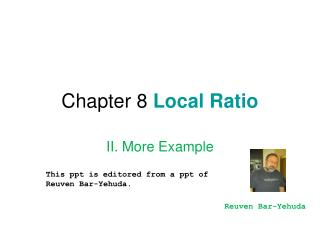 Chapter 8  Local Ratio