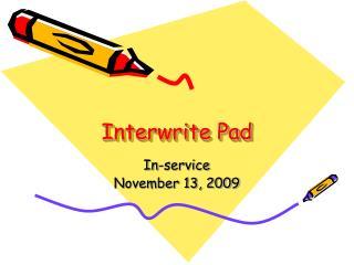 Interwrite Pad