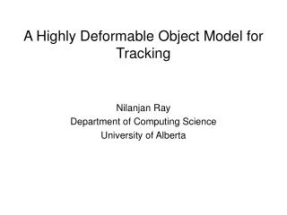 A Highly Deformable Object Model for Tracking