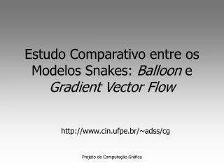 Estudo Comparativo entre os Modelos Snakes:  Balloon  e  Gradient Vector Flow