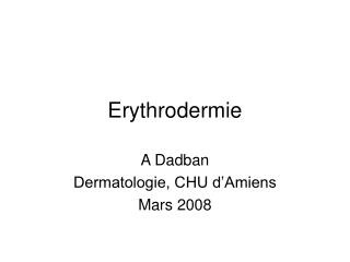 Erythrodermie