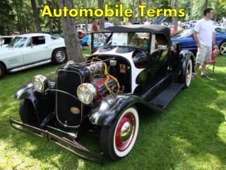 Automobile Terms