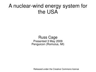 A nuclear-wind energy system for the USA