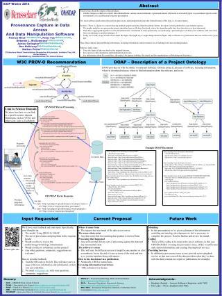 DOAP – Description of a Project Ontology