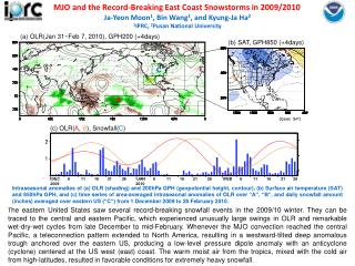 MJO and the Record-Breaking East Coast Snowstorms in 2009/2010