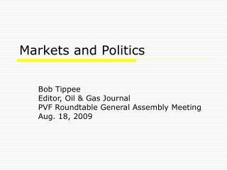 Markets and Politics