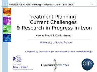 Treatment Planning: Current Challenges  & Research in Progress in Lyon