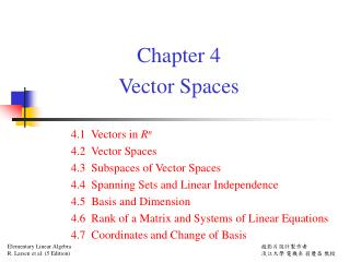 Chapter 4  Vector Spaces
