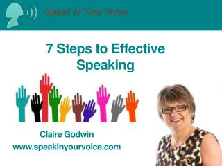 7 Steps to Effective Speaking