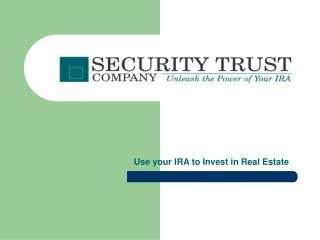 Use your IRA to Invest in Real Estate