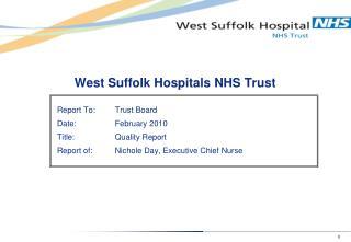 West Suffolk Hospitals NHS Trust