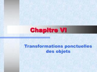 Chapitre VI