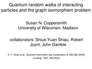 Quantum random walks of interacting particles and the graph isomorphism problem