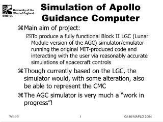 Simulation of Apollo Guidance Computer