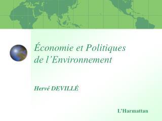 Économie et Politiques  de l'Environnement