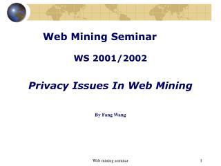 Web Mining Seminar