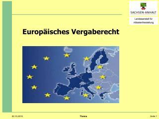 Europ�isches Vergaberecht