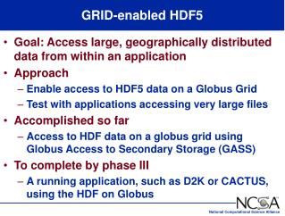 GRID-enabled HDF5