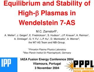 Equilibrium and Stability of High- b  Plasmas in Wendelstein 7-AS