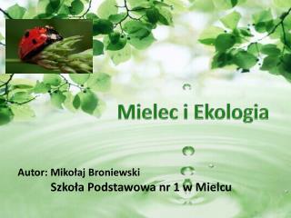 Autor: Miko?aj Broniewski Szko?a Podstawowa nr 1 w Mielcu