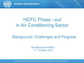 HCFC Phase �out  in Air Conditioning Sector
