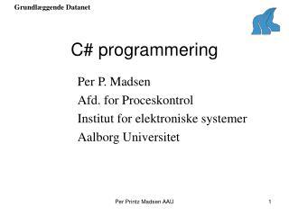 C# programmering