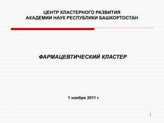 ЦЕНТР КЛАСТЕРНОГО РАЗВИТИЯ АКАДЕМИИ НАУК РЕСПУБЛИКИ БАШКОРТОСТАН