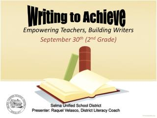 Empowering Teachers, Building Writers
