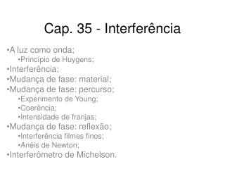 Cap. 35 - Interferência