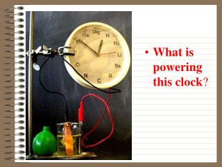 What is powering this clock ?