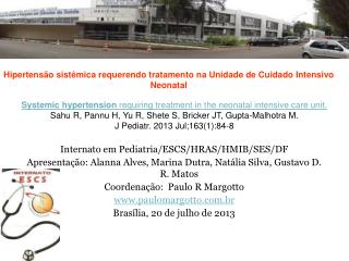 Internato em Pediatria/ESCS/HRAS/HMIB/SES/DF