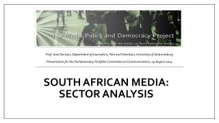 South African media: sector analysis