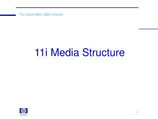 11i Media Structure