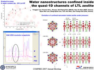 Water nanostructures confined inside  the quasi-1D channels of LTL zeolite