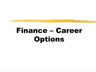 Finance – Career Options