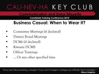 Business Casual: When to Wear it?