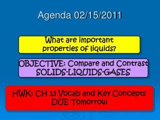 Agenda 02/15/2011