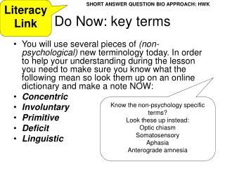 Do Now: key terms
