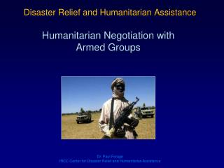 Disaster Relief and Humanitarian Assistance