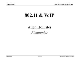 802.11 & VoIP
