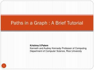 Paths in a Graph : A Brief Tutorial