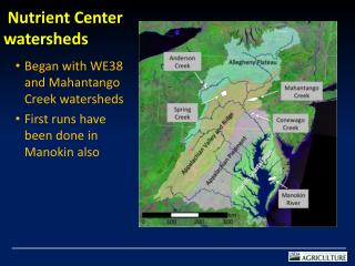 Nutrient Center watersheds