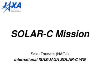 SOLAR-C Mission