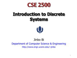 CSE 2500 Introduction to Discrete Systems